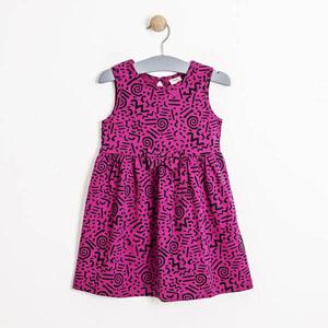 Kız Çocuk Kolsuz Elbise Koyu Pembe (3-7 yaş)