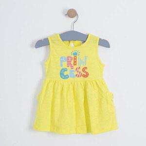 Kız Çocuk Kolsuz Elbise Limon (1-7 yaş)