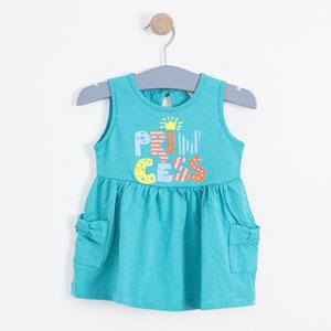Kız Çocuk Kolsuz Elbise Göl Yeşil (1-7 yaş)
