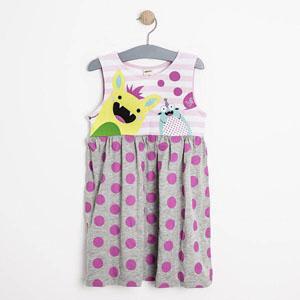 Kız Çocuk Kolsuz Elbise Gri Melanj (1-7 yaş)