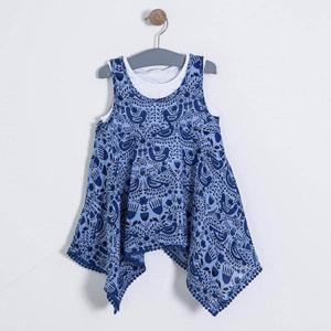 Kız Çocuk Kolsuz Tişört Mavi (3-12 yaş)