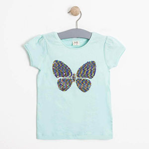 Kız Çocuk Kısa Kol Tişört Çini (3-12 yaş)