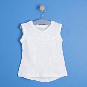 Kız Çocuk Kısa Kol Tişört Beyaz (3-12 yaş)