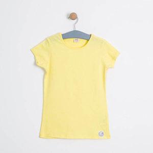 Kız Çocuk Kısa Kol Tişört Limon Sarısı (8-12 yaş)