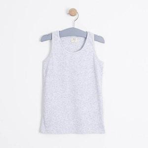 Kız Çocuk Kolsuz Tişört Açık Gri Melanj (3-7 yaş)