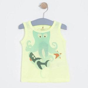 Kız Çocuk Kolsuz Tişört Fıstık Yeşil (3-12 yaş)
