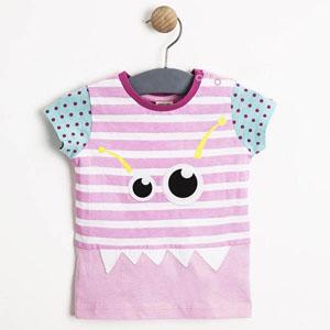 Kız Çocuk Kısa Kol Tişört Açık Pembe (1-7 yaş)
