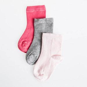 Kız Bebek Üçlü Çorap Set Pembe (14-22 numara)