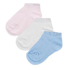 Kız Bebek Üçlü Çorap Set Açık Pembe (14-22 numara)