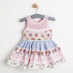 Kız Bebek Kolsuz Elbise Beyaz (0-3 yaş)