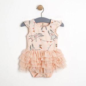 Kız Bebek Etekli Badi Açık Pembe (0-2 yaş)