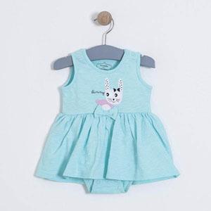 Kız Bebek Kolsuz Elbise Çini (0-2 yaş)