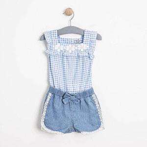Kız Bebek Tulum Mavi (0-2 yaş)