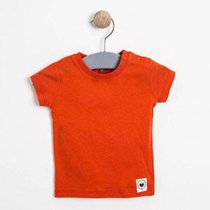 Kız Bebek Kısa Kol Tişört Nar (0-2 yaş)