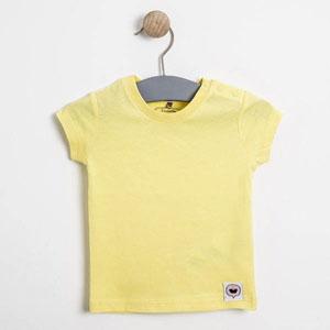 Kız Bebek Kısa Kol Tişört Limon Sarısı (0-2 yaş)