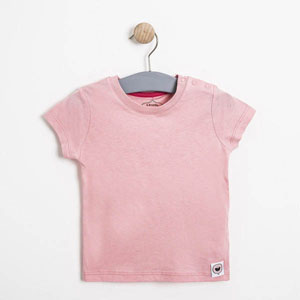 Kız Bebek Kısa Kol Tişört Pembe (0-2 yaş)