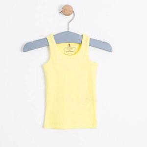 Kız Bebek Kolsuz Tişört Limon Sarısı (0-2 yaş)