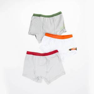 Erkek Çocuk Üçlü Boxer Set Gri (2-6 yaş)