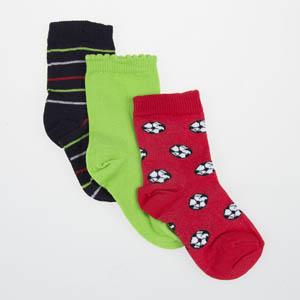 Erkek Çocuk Çorap Üçlü Kırmızı (23-34 numara)