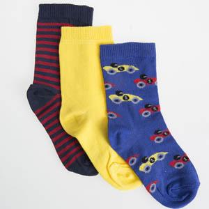 Erkek Çocuk Çorap Üçlü Saks (23-34 numara)