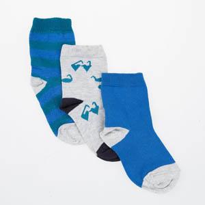 Erkek Çocuk Üçlü Bilek Üstü Çorap Gri (23-34 numara)
