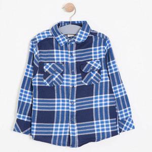 Erkek Çocuk Uzun Kol Gömlek Lacivert (3-7 yaş)