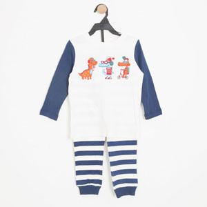 Erkek Çocuk Pijama Takımı Ekru (3-7 yaş)