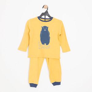Erkek Çocuk Pijama Takımı Antik Sarı (3-7 yaş)