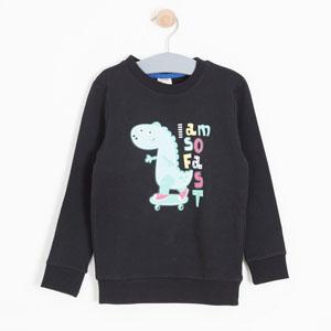 Erkek Çocuk Sweatshirt Siyah (8-12 yaş)