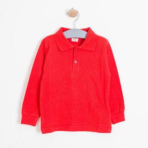 Erkek Çocuk Uzun Kol Tişört Kırmızı (8-12 yaş)