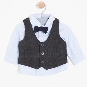 Erkek Bebek Set Antrasit (0-3 yaş)