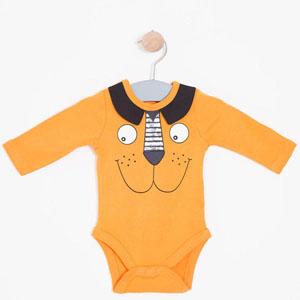 Erkek Bebek Uzun Kol Badi Oranj (0-2 yaş)
