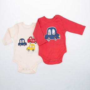 Erkek Bebek İkili Badi Kırmızı (0-2 yaş)