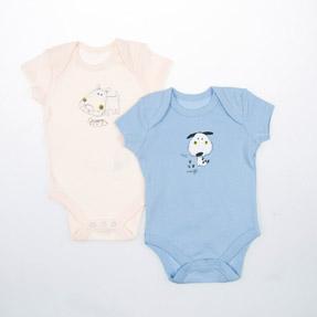 Erkek Bebek İkili Badi Açık Sarı (0-2 yaş)