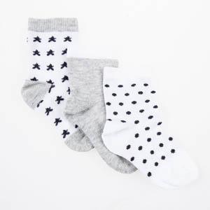 Erkek Bebek Üçlü Çorap Beyaz (17-22 numara)