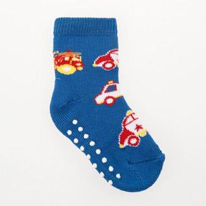 Erkek Bebek Altı Kaydırmaz Havlu Çorap Saks (17-22 numara)