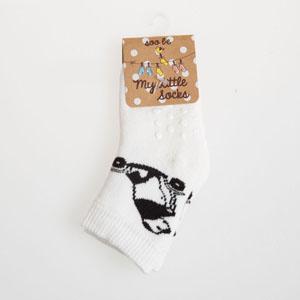 Erkek Bebek Altı Kaydırmaz Havlu Çorap Beyaz (17-22 numara)