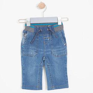 Erkek Bebek Pantolon Açık İndigo (0-3 yaş)