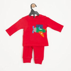 Erkek Bebek Pijama Takımı Kırmızı (0-2 yaş)