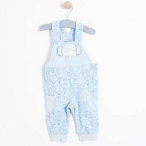 Erkek Bebek Salopet Açık Mavi (56-86 cm)