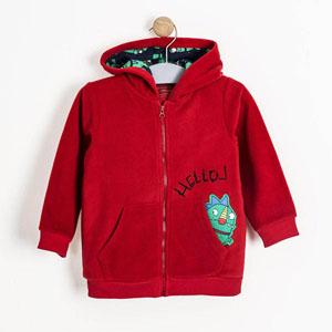 Erkek Bebek Sweatshirt Kırmızı (0-2 yaş)