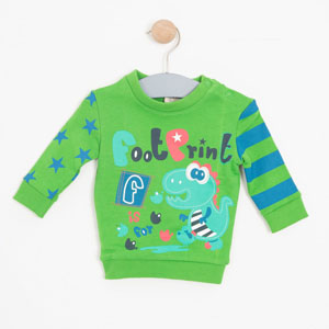 Erkek Bebek Sweatshirt Yeşil (0-2 yaş)