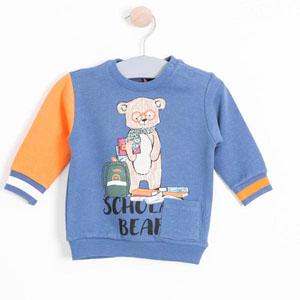 Erkek Bebek Sweatshirt İndigo (0-2 yaş)
