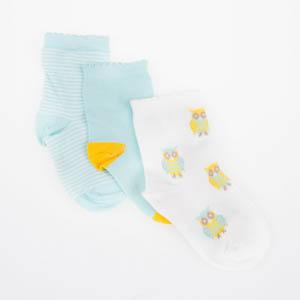 Kız Çocuk Üçlü Bilek Üstü Çorap Krem (23-34 numara)