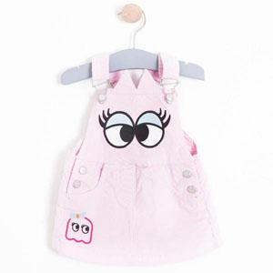 Kız Çocuk Jile Elbise Pembe (1-7 yaş)