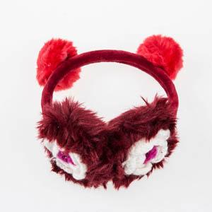 Kız Çocuk Kulaklık Bordo (4-12 yaş)