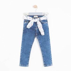 Kız Çocuk Pantolon Koyu Lacivert (3-12 yaş)