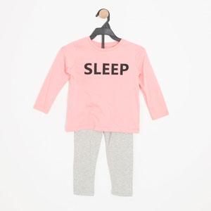 Kız Çocuk Pijama Takımı Pembe (3-7 yaş)
