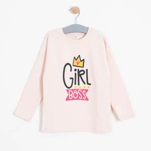 Kız Çocuk Sweatshirt Açık Gül (3-7 yaş)
