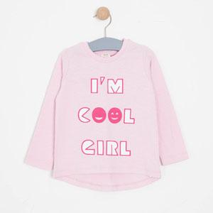 Kız Çocuk Uzun Kol Tişört Toz Pembe (8-12 yaş)